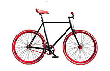 "WOO HOO BIKES - RED 19"" - Fixed Gear Bicycle, Fixie, One Gear, Track Bike"
