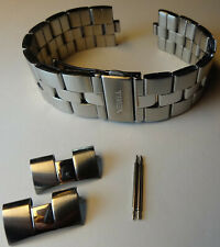 New Timex Stainless Steel Bracelet 20mm Watch Band Push Button Trifold Clasp