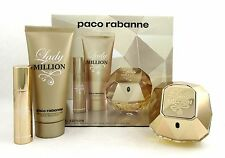 Lady Million by Paco Rabanne Travel Set: 2.7oz.EDP Spray+3.4oz.Lotion Brand New