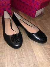 Tory Burch LOWELL 2 BALLET FLAT / Black / SIZE 7 NEW