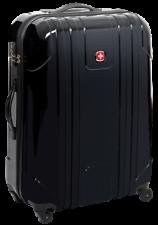 WENGER Koffer 55cm, Hartschale, Handgepäck,Cabin Trolley, schwarz, 4 Rollen, NEU
