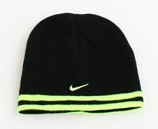 Nike Reversible Black & Volt Knit Beanie Skull Cap Youth Boy's 8-20 NWT