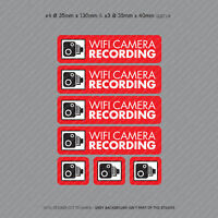 7 x WiFi Dash Cam Recording Stickers CCTV In Car Video Camera Sticker - SKU4061