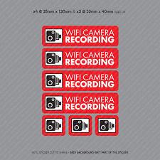 Cámara de video 7 X Pegatinas de grabación Wifi Cámara en Tablero CCTV en Coche Adhesivo-SKU4061