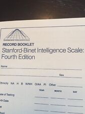 Record Booklet -Stanford-Binet Intelligence Scale: 4th Edition, 1986, set of TWO