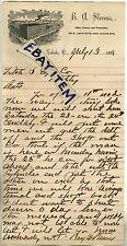 1898 LETTERHEAD B. A. Stevens BILLIARDS Manufacturer POOL TABLES TOLEDO OHIO OH