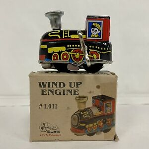 WELBY Tin Treasures Wind Up Engine #L011 2012 Reproduction with Key & Box