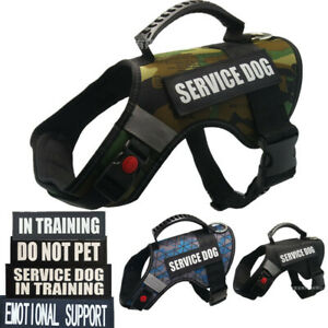 Reflective Dog Vest Harness W/ 2PCS Patches SERVICE DOG IN TRAINING EMOTIONAL