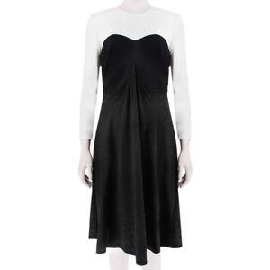 Stella McCartney Elegant White Black Block Colour Dress IT40 UK8