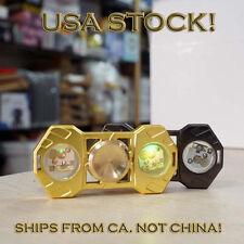 Brass LED Hand Spinner Fidget Light EDC Finger Gyro Desk Focus Toy USA GOLD