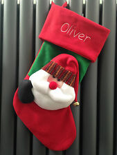 Luxury Father Christmas Stocking Santa Personalised Embroidered with any name