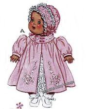 Vintage Dolls Dress Coat Romper Bonnet SEWING PATTERN 1950 Clothes 50 cm 20 inch