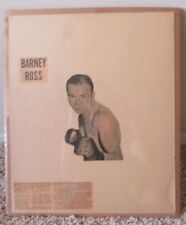 VINTAGE HOME MADE BOXING POSTER BARNEY ROSS MATTED & SHRINK WRAPPED