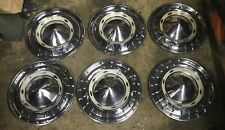 6 1955 Original Chevrolet Wheel Covers Driver Quality Restorable Used