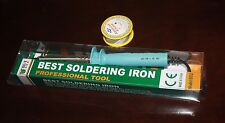 BEST 110v 60W Electronic Soldering Iron Welding Heat Gun + Solderwire roll