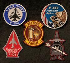 USAF Wild Weasel YGBSM patch & F-100 F-105 F-4 F-16 patches Vietnam SAM ECM EWO