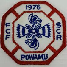 Vintage 1976 Fcf Scr Powamu Red And Blue Rr Royal Ranger Uniform Patch