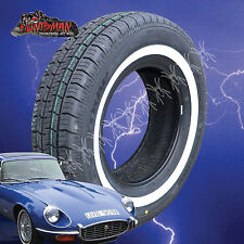 "14"" WHITEWALL 195 75 14 SURETRAC/SIERRA TYRES. 25MM LINE 195/75R14 WHITE WALL 14"