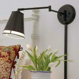 Kenroy Home Metro 10 in. Oil-Rubbed Bronze Wall Swing Arm Lamp