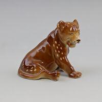 9942788 Figura in Porcellana Lion Cucciolo Leone Wagner & Apel 11x12cm