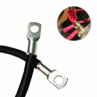 """Negative Black Battery Earth Strap 600mm / 24"""" Switch Starter Cable Car  Lead"""