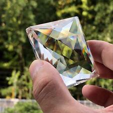 75MM Square Crystal Chandelier 1Hole Suncatcher Lamp Prism Parts Wedding Decor