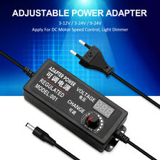 Adjustable Voltage Power Supply Adapter AC /DC Switch w/ LED Display EU US UK
