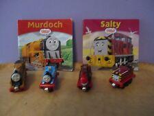 Thomas the Tank & Friends,(diecast trains)Thomas,Murdoch,Salty,Harvey & 2 books