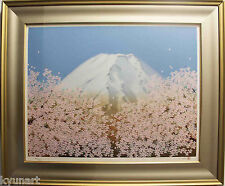 Listed Japanese Artist Chinami NAKAGIMA, Original Silkscreen print signed,