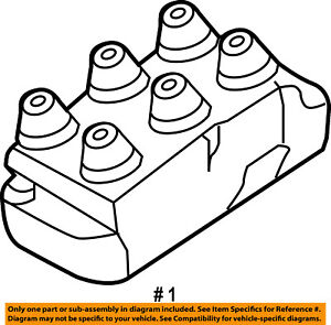 FORD OEM-Ignition Coil 5F2Z12029AD