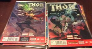 Lot of 9 Thor God of Thunder Mighty Aaron Fraction JMS