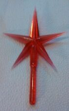 "Large Star 4"" Red Ceramic Christmas Tree Lights Bulbs Stars Vintage  New"