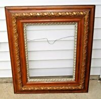 Antique 1880s - 1910s Victorian Era Multi Tier Ornate Wood Picture Frame 32 X 27