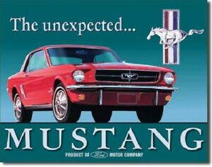 New Ford Mustang Decorative Metal Tin Sign