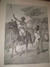 Rising en Somalia un recluta para la Mad Mullah RC Woodville 1901 impresión ref Ay