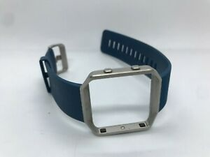 Replacement Band/Strap and Case for FitBit Blaze Activity Tracker - Blue/Silver