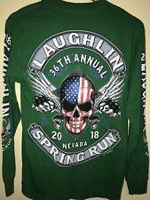 Laughlin 36th Annual Nevada Spring Run Biker Club Long Sleeve Size S