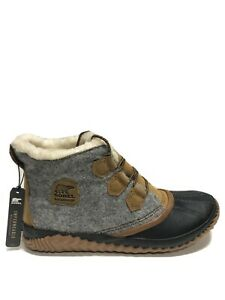 Sorel Women's Out N About Plus, Gray Winter Booties, Size 12M.