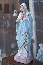 Catholic old Altar Shrine sacred heart Mary holy statue Blessed Figurine grace