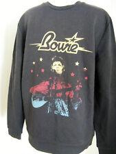 DAVID BOWIE Unisex Washed Black Pullover Sweatshirt  NWOT - Size XXXL