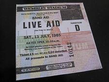 LIVE AID  :  1985 CONCERT WEMBLEY UK QUEEN DAVID BOWIE U2 REPRO TICKET STUB