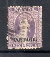 South Africa Natal 1869 6d violet SG55 Cat Val £70 used WS21225