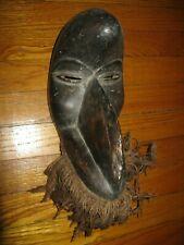 Vintage Dan Peoples African Bird Mask Tribal Art Wood & Fibre