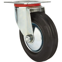 Ironton 5in. Swivel Rubber Caster - 220-Lb. Capacity