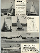 1955 PAPER AD Holland Holiday 30' Yacht Inc Hawaiian Twin 72' Sloop Yawl Dolphin