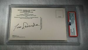 TOMMY LASORDA Signed HOF Induction Card-Los Angeles Dodgers-PSA Encapsulated