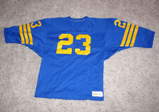 1960's RUSSELL ATHLETIC FOOTBALL JERSEY - BLUE & GOLD - NUMBER 23 - SIZE MEDIUM