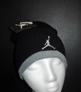 NWT JORDAN Boys Black & Red or Black & Gray Beanie with Logo(Size Youth 8/20)NEW