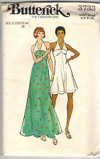 Butterick Pattern 3733, Vintage Halter Dress with Collar, Costume, Size 12 Uncut