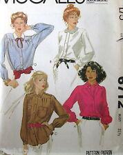 Vtg 70s blouse pattern long sleeve button cuff sz 8 B31